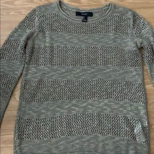 Forever 21 army green sweater